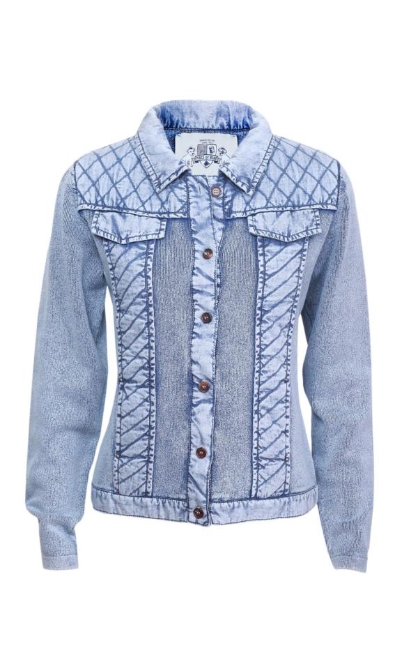 Basic jacket in light indigo blue. Piece of Blue