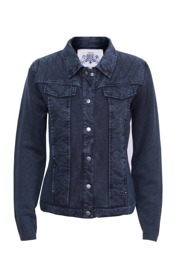 Basic jacket in dark blue. Piece of Blue