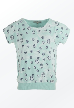 Feminine Mint Green marbles Printed Pullover for her from Piece of Blue