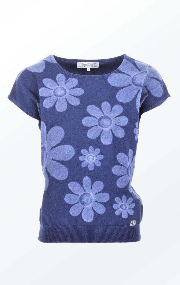 Feminine short-sleeved Indigo Pullover for Women fra Piece of Blue