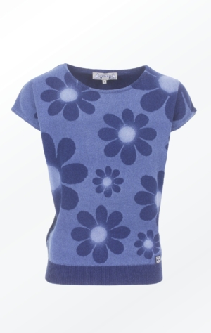 Feminine short-sleeved Indigo Pullover for Women from Piece of Blue