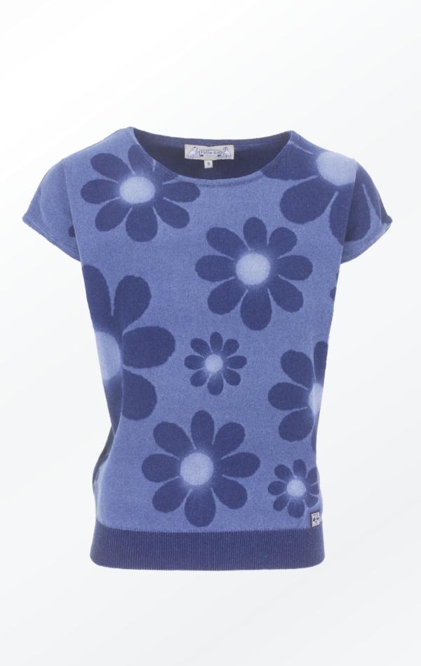 Feminine short-sleeved Indigo Pullover for Women from Piece of Blue