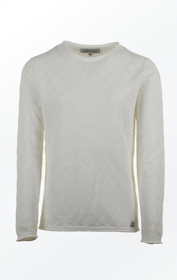 Simple yet Feminine Pullover in White for Women from Piece of Blue