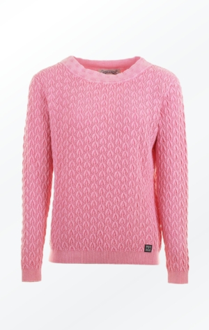 Elegant Boat Neck Pullover in Pink for Women from Piece of Blue