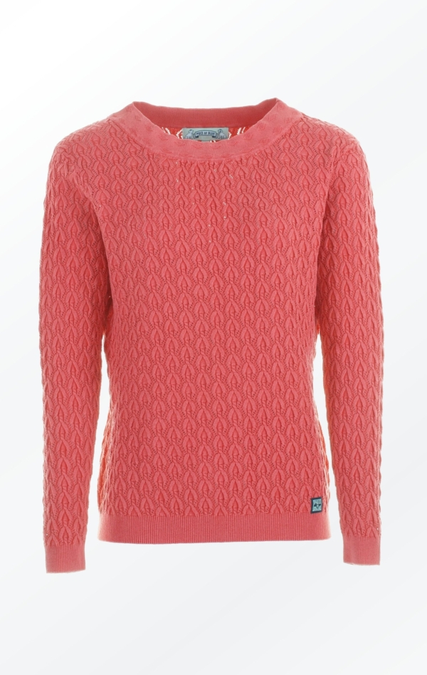 Elegant Boat Neck Pullover in Red for Women from Piece of Blue