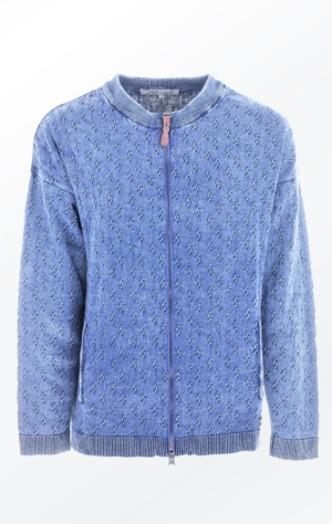 Simple Loose Fit Light Indigo Blue Cardigan from Piece of Blue