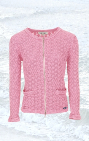Pretty and Feminine Knitted Cardigan in soft Pink for Women from Piece of Blue.