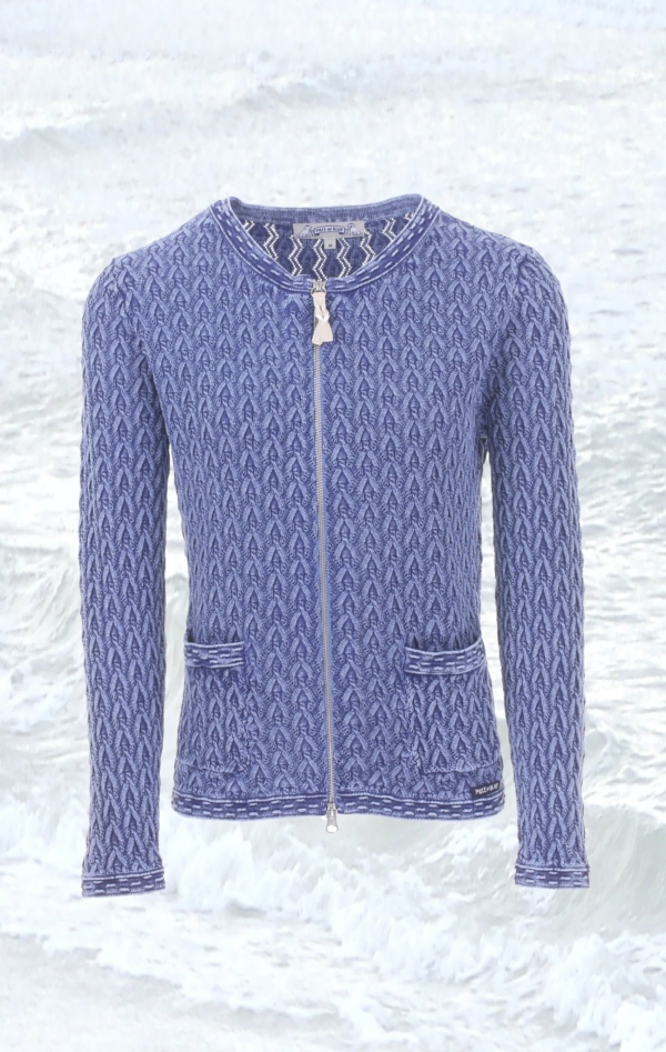 Pretty and Feminine Knitted Cardigan in Blue for Women from Piece of Blue.