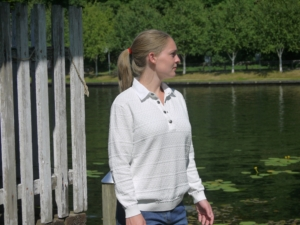 Sailor inspired Polo made in pure Cotton for Women from Piece of Blue