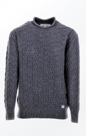 Nice Knitted Black Grey Pullover Made in Ecologic Yarn from Piece of Blue