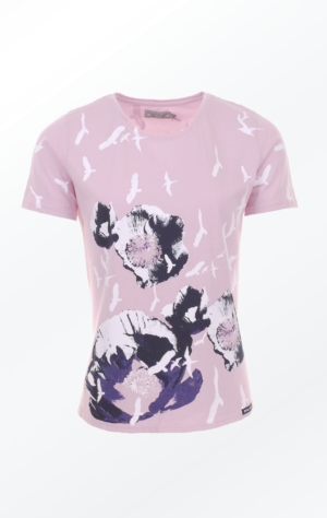 Rose Hand-Printed T-shirt with Pretty Print from Piece of Blue.