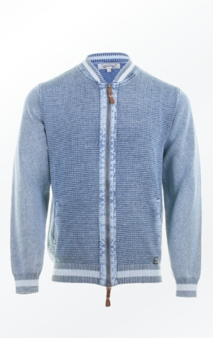 Cool Bumper Jacket inspired Cardigan in Light Indigo Blue for Men from Piece of Blue