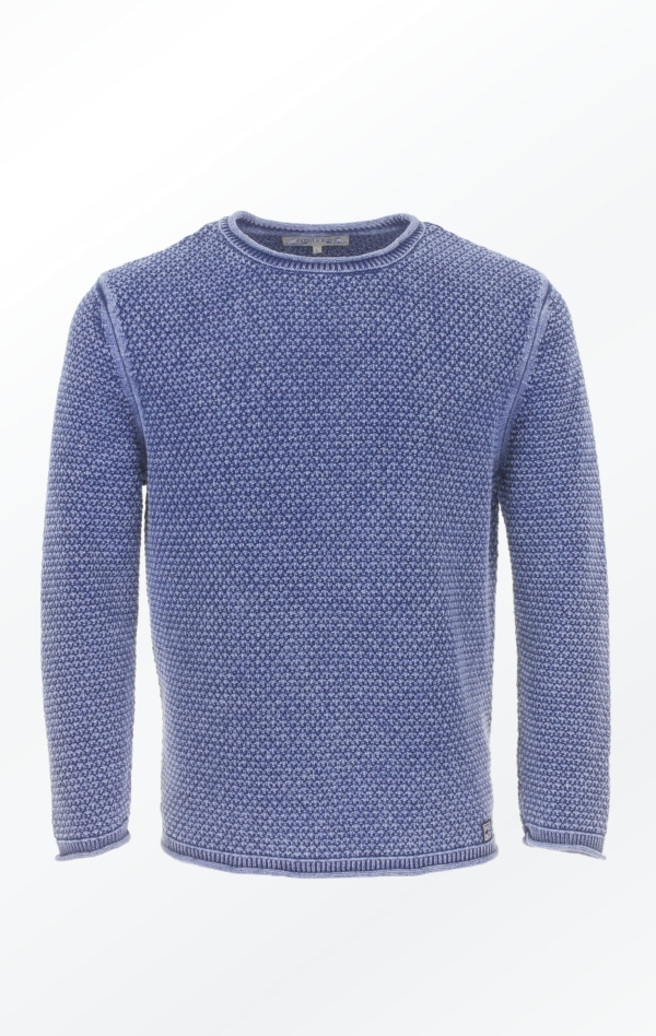 Indigo Blue Cotton Pullover in a Classic look for Men from Piece of Blue